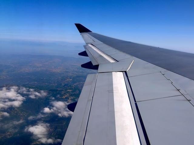 フライト(航空機内から)の写真