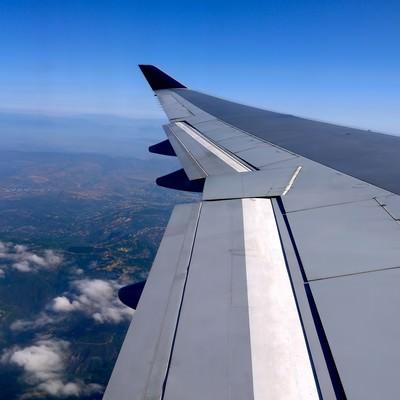 「フライト(航空機内から)」の写真素材