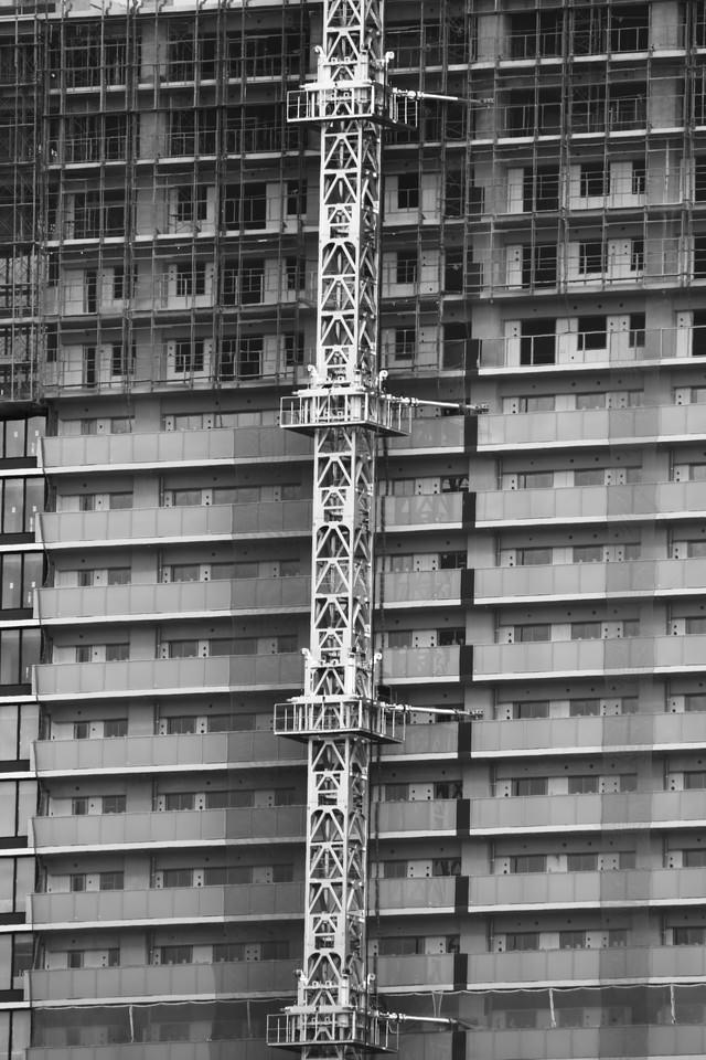 建設中のビルの写真
