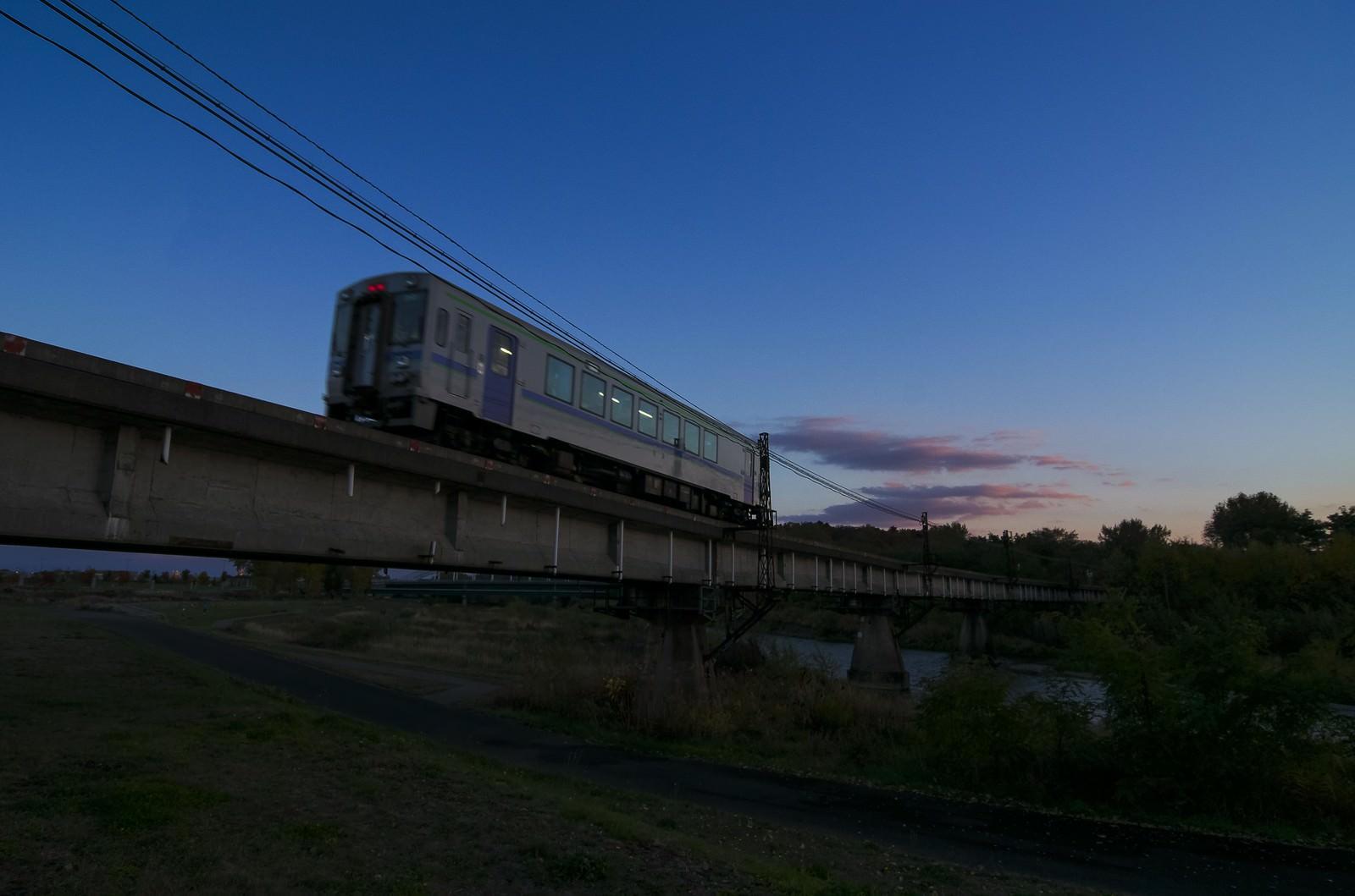 「旭川のローカル線」の写真