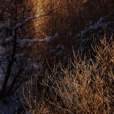 「北海道のサンピラー」の写真素材