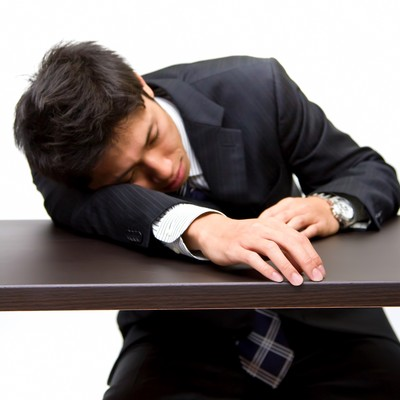 「就職活動に疲れた男性」の写真素材