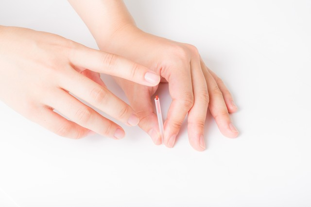 鍼治療の練習の写真