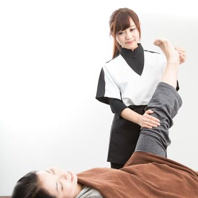 「足スリムのストレッチ」の写真素材