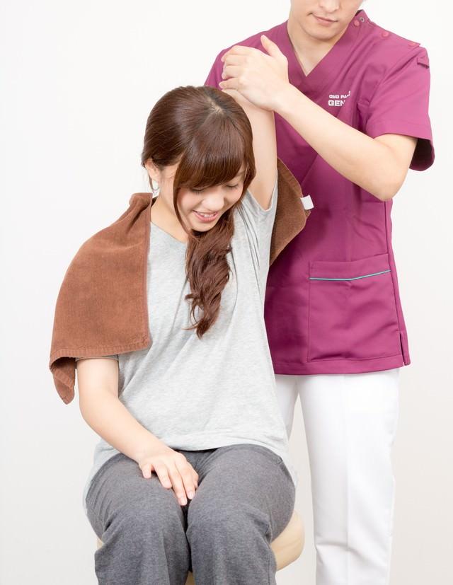 柔道整復師の手技療法の写真