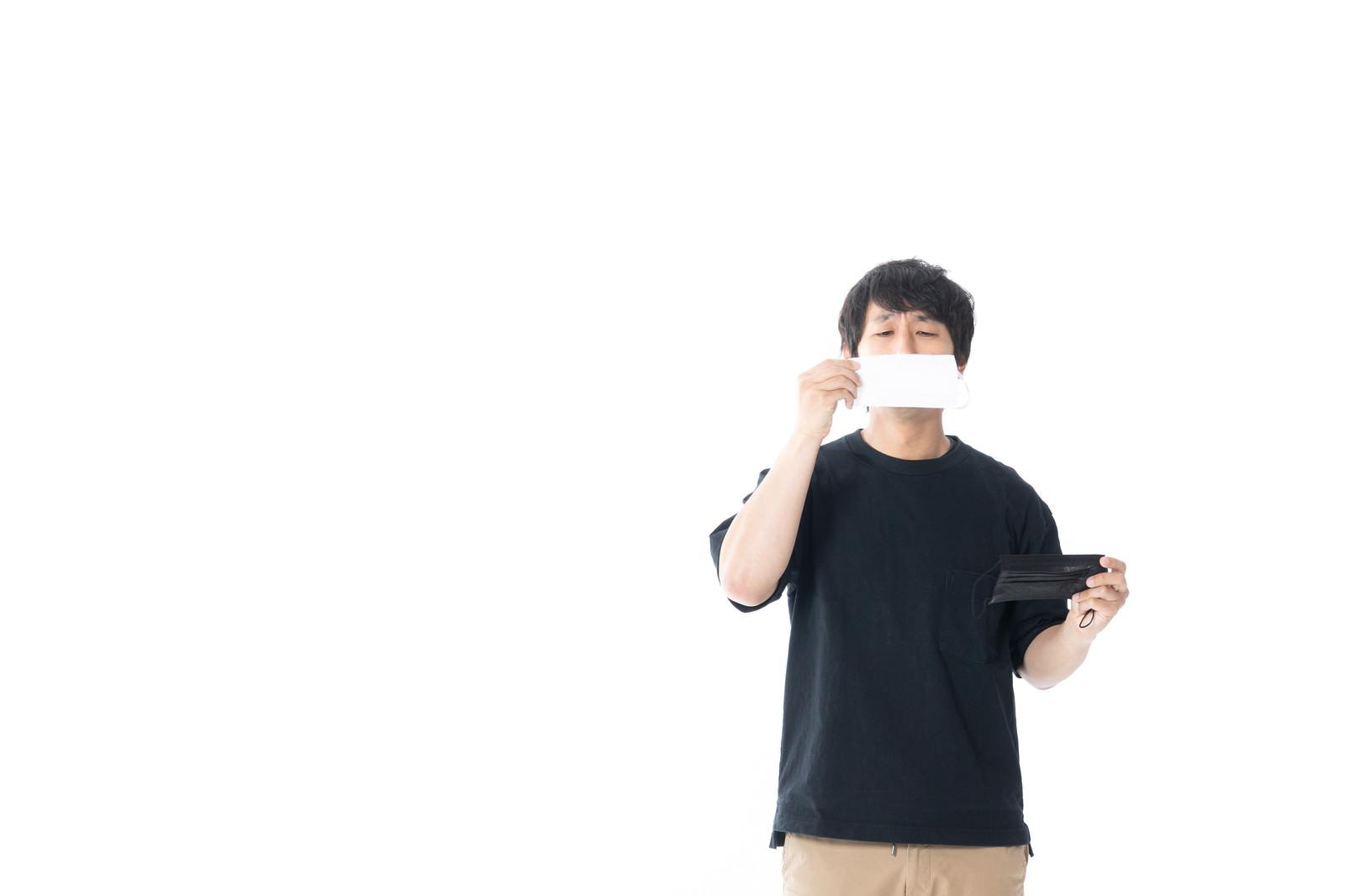 「口元を隠すなら白マスクがいい」の写真