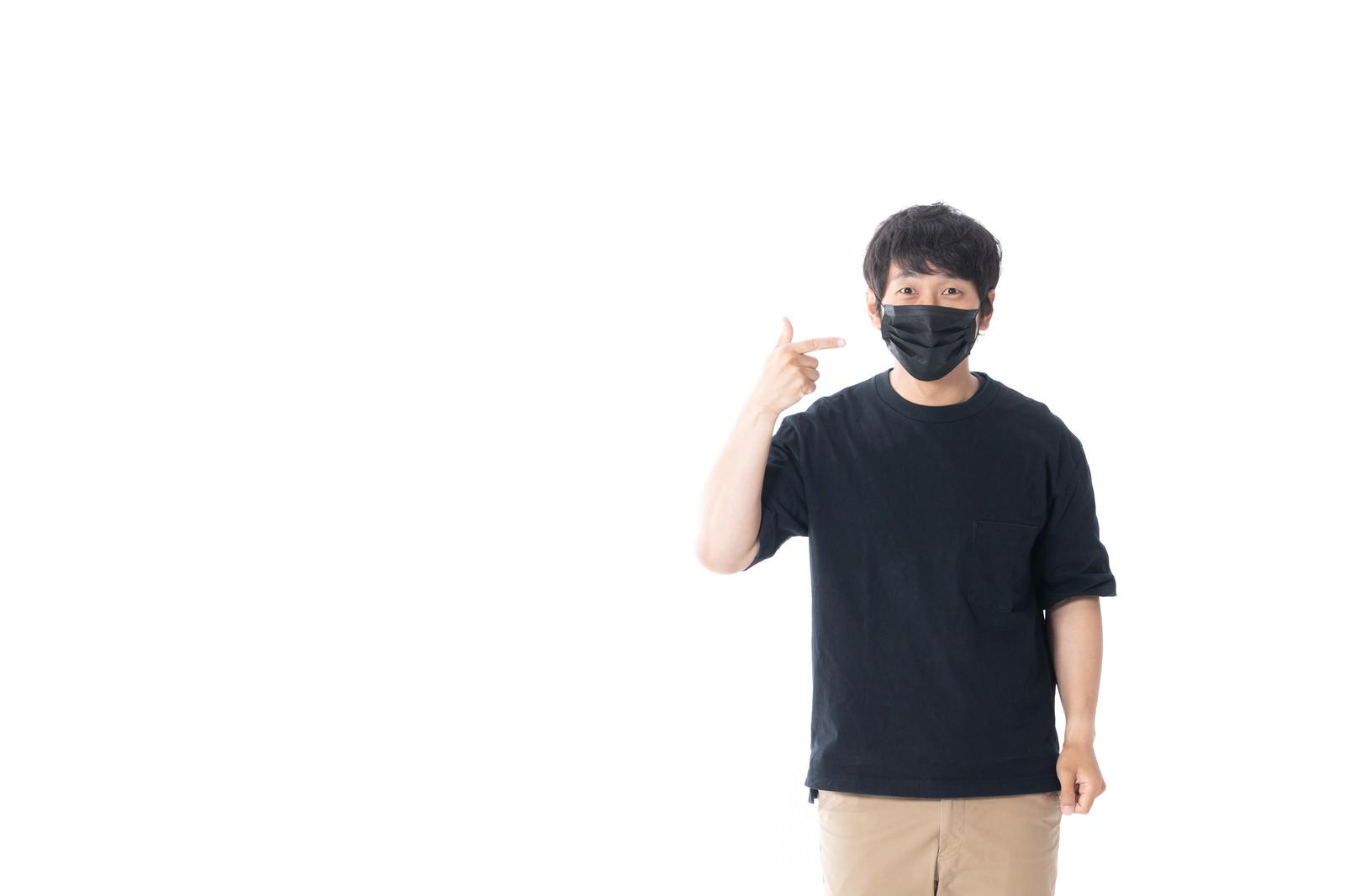 「黒マスクってダサいですか?」の写真[モデル:大川竜弥]