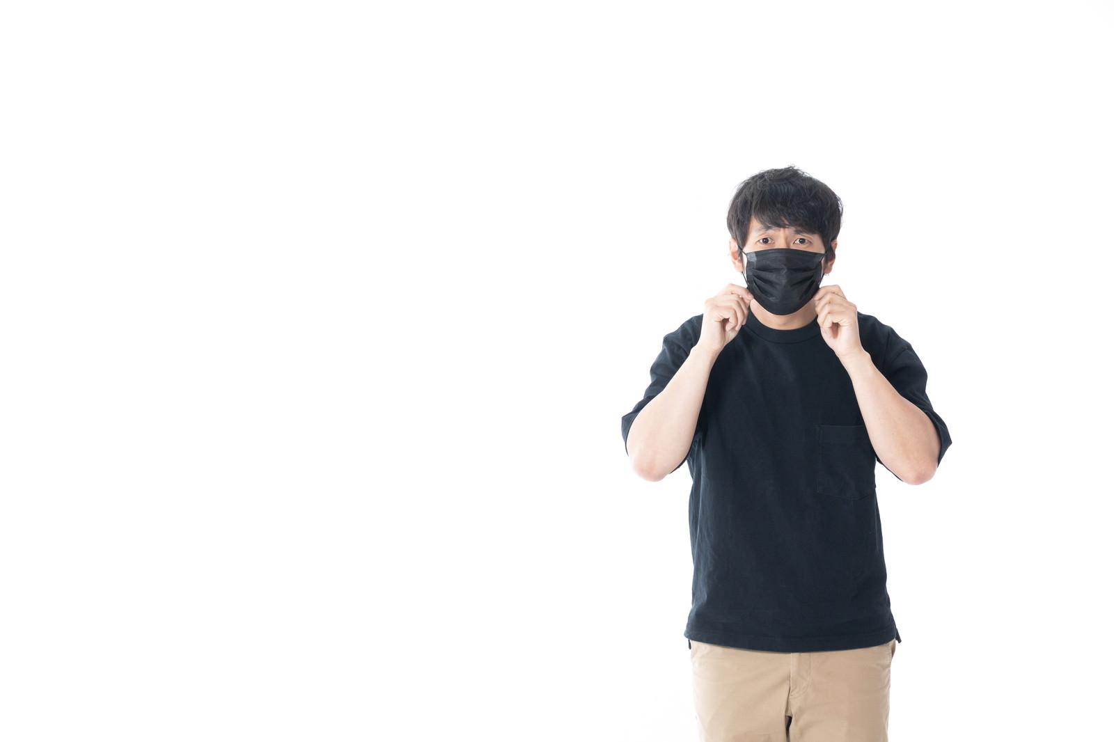 「黒マスク男子」[モデル:大川竜弥]