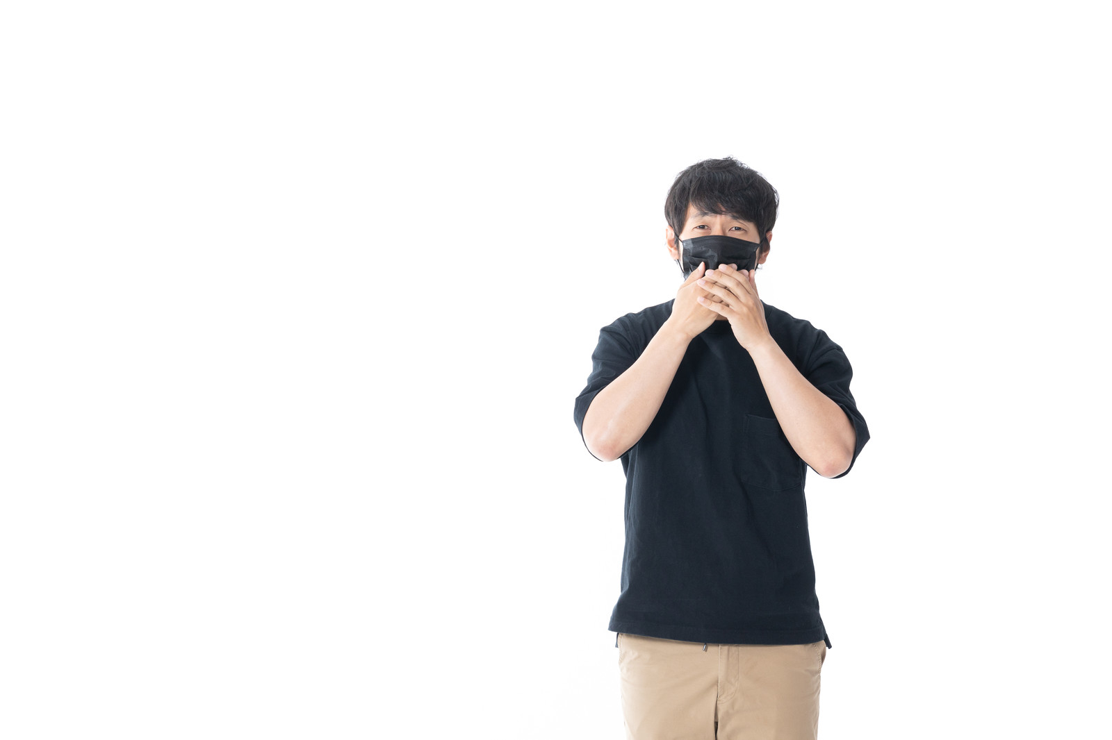 「あざ笑う匿名さん」の写真[モデル:大川竜弥]