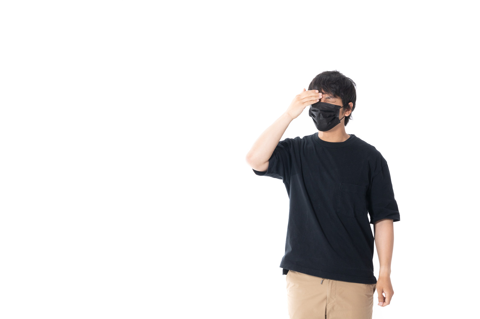 「頭痛がイタタタ」の写真[モデル:大川竜弥]