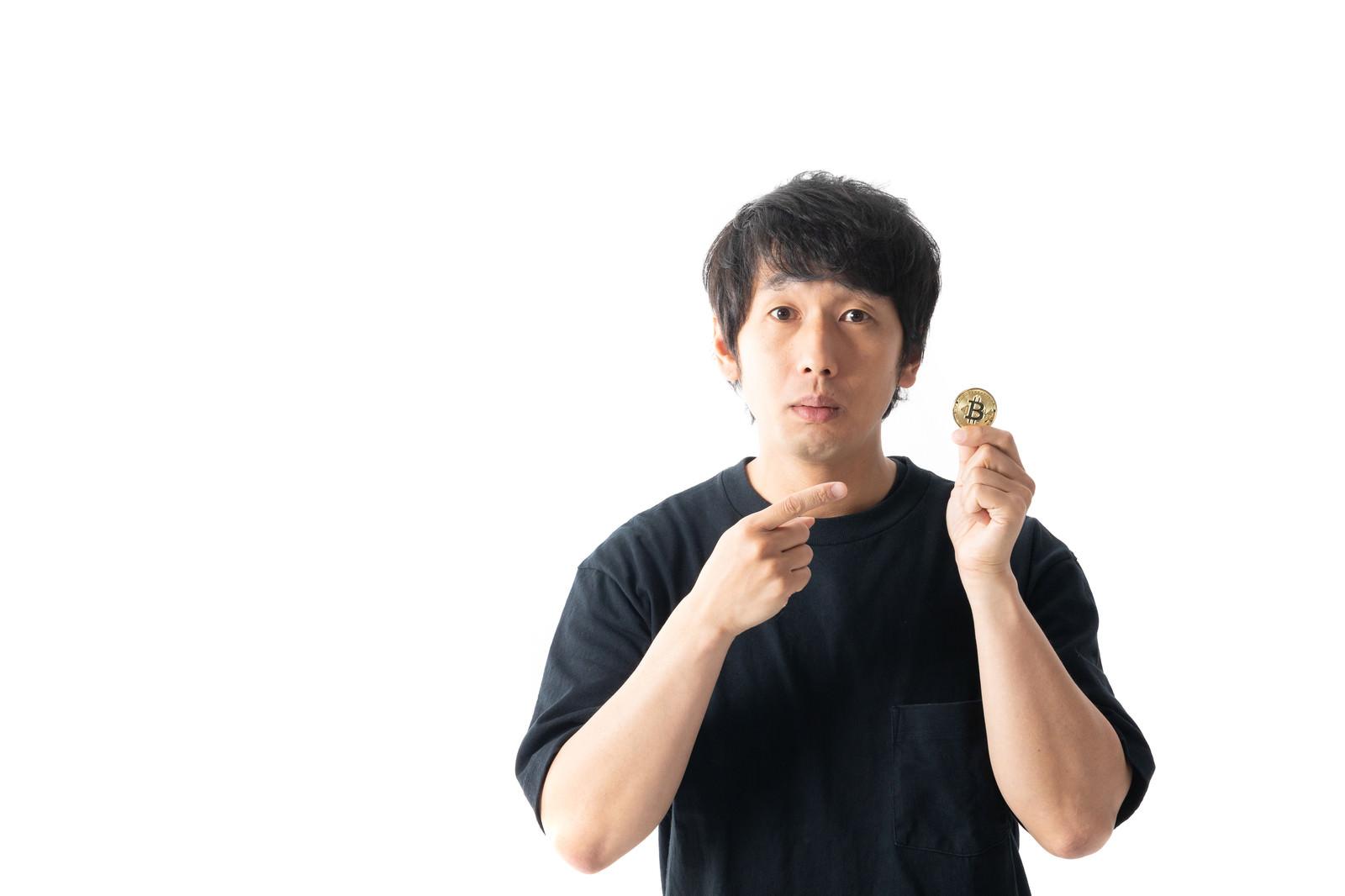 「ビットコインをはじめる令和組」の写真[モデル:大川竜弥]