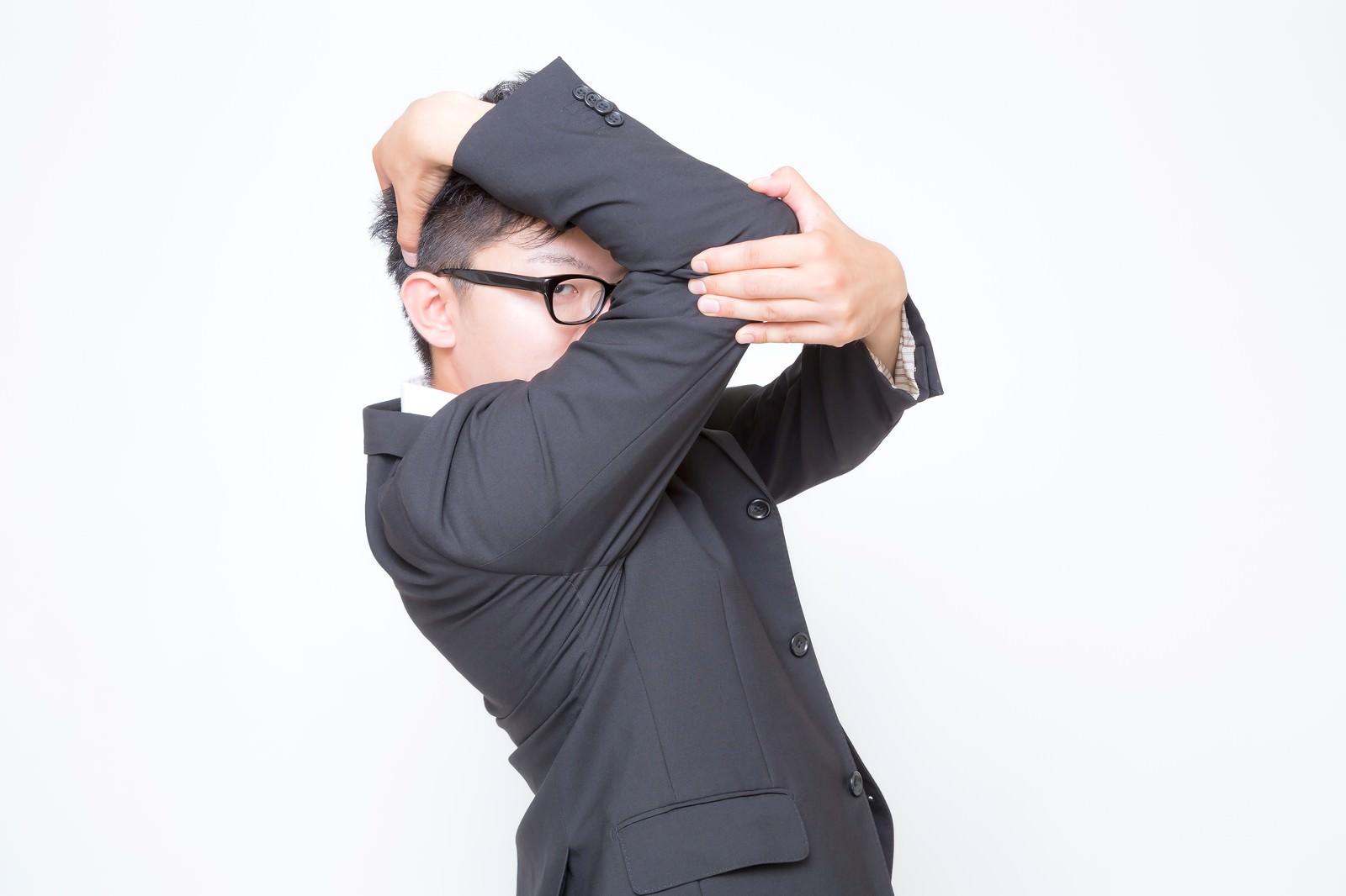 「祝福が必要なビジネスマン」の写真[モデル:OZPA]