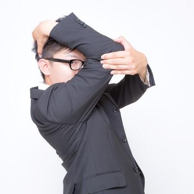 「祝福が必要なビジネスマン」の写真素材