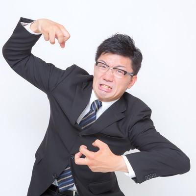 「3.「激おこぷんぷん」な男性」の写真素材