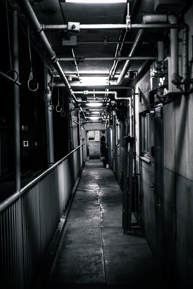 「仄暗いマンション」の写真