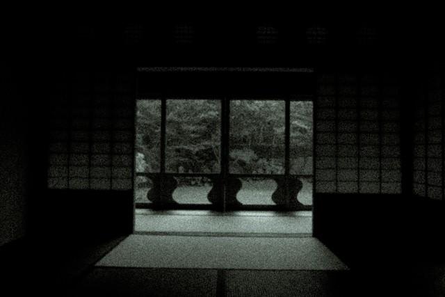 辿り着いた障子の部屋の写真