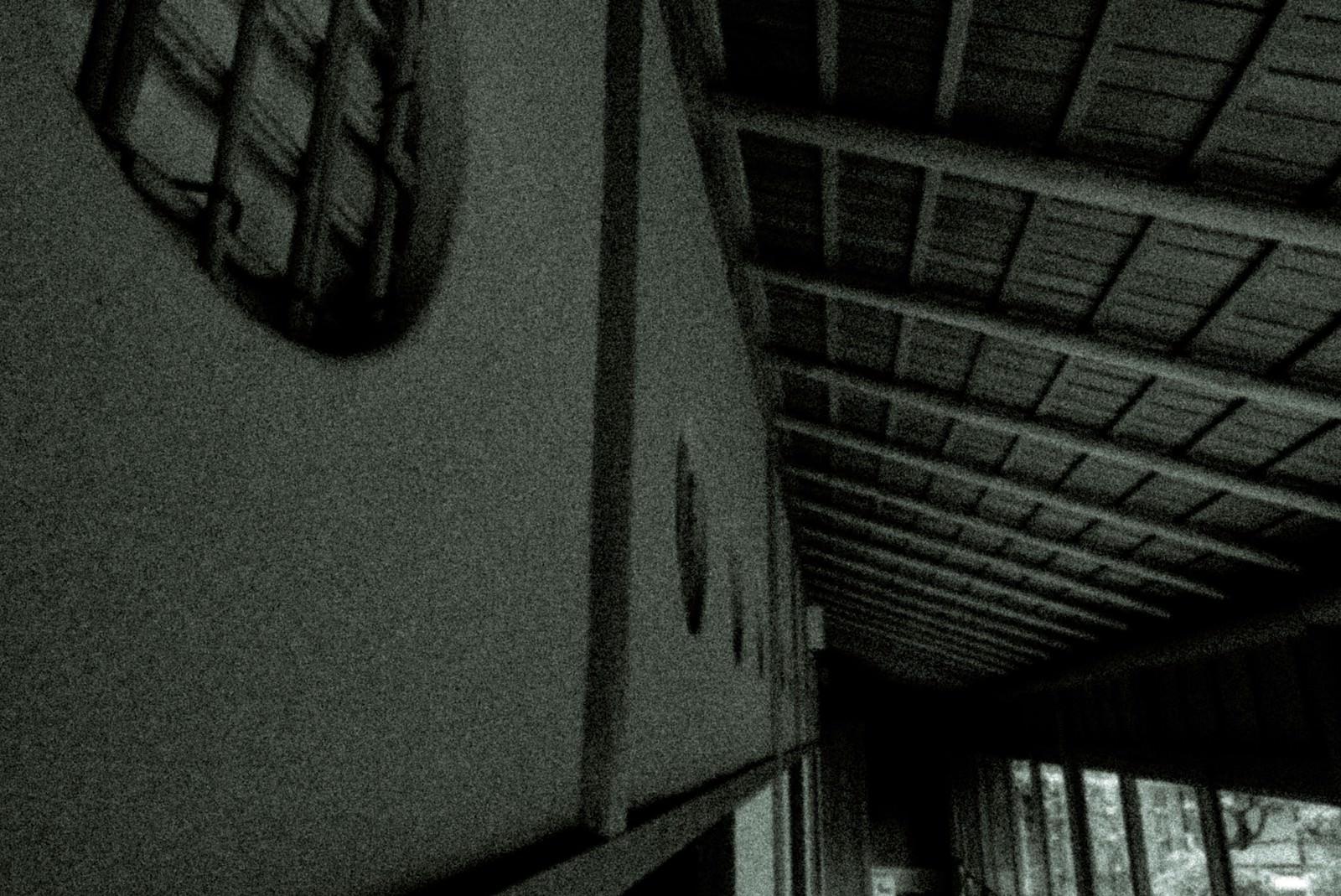 「古民家の廊下(ノイズ)」の写真