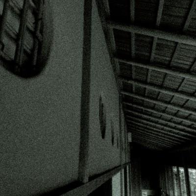 「古民家の廊下(ノイズ)」の写真素材