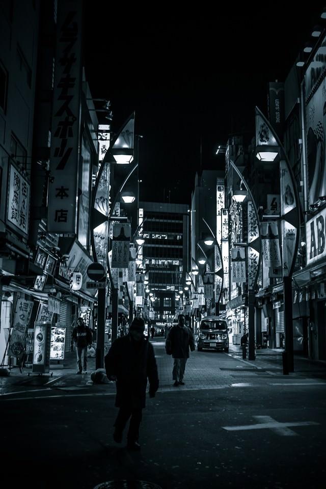 上野駅の雑踏の写真