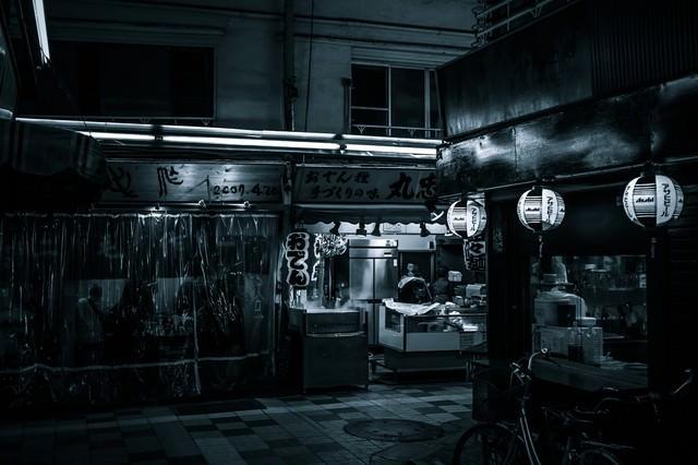 「飲み屋街」のフリー写真素材