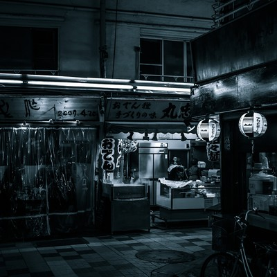 「飲み屋街」の写真素材