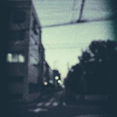 「日暮れ時の街」の写真素材