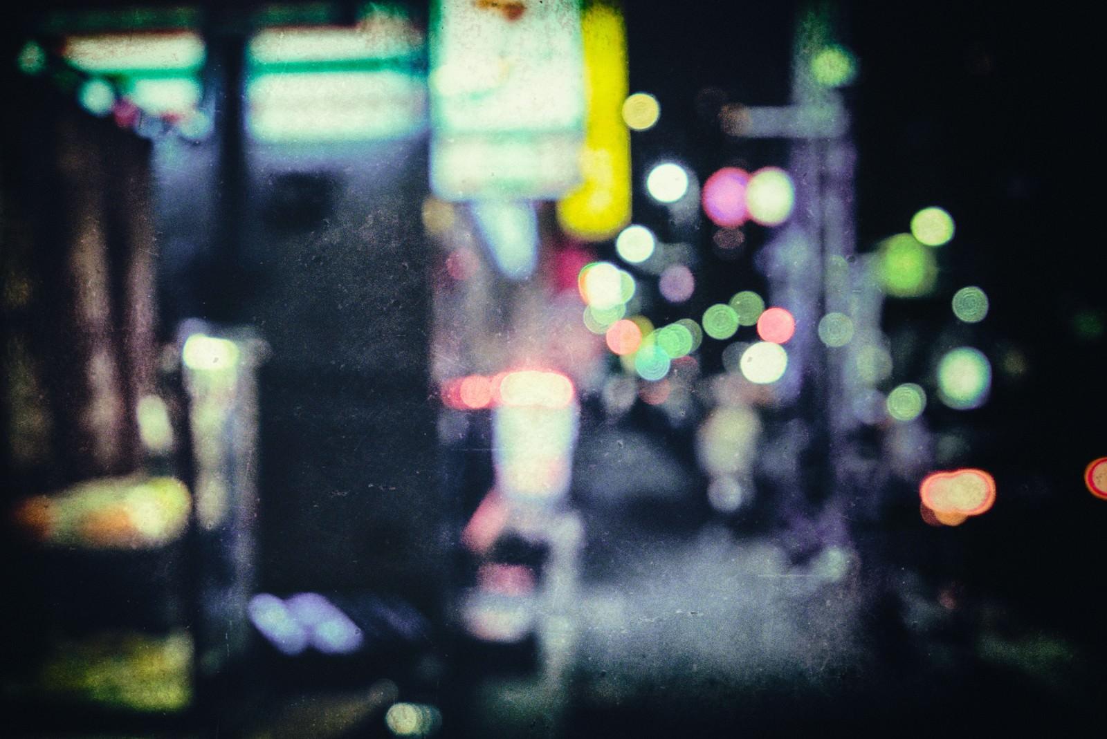 「夜も更けたころ(ボケ)」の写真