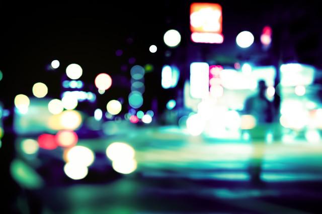 夢の中で見た繁華街の写真