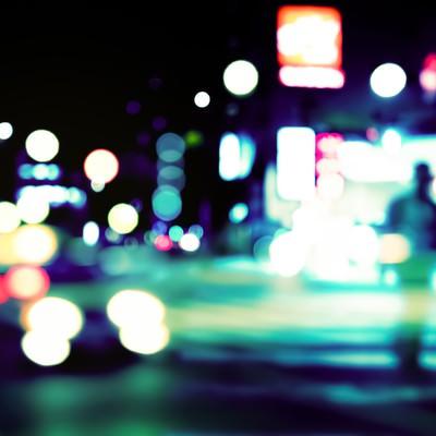 「夢の中で見た繁華街」の写真素材