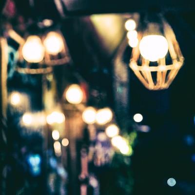 「工事現場の作業灯」の写真素材