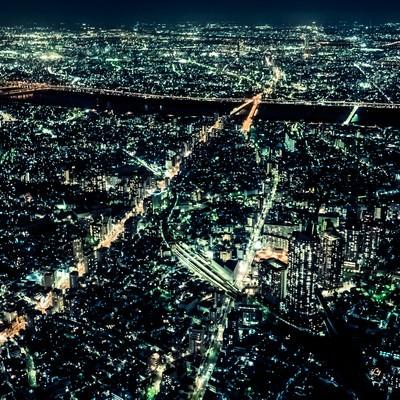 「都会と夜景」の写真素材