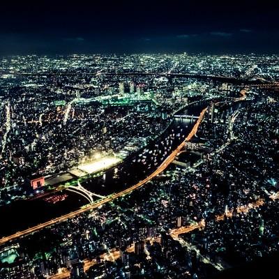 「東京の眠らない夜景」の写真素材