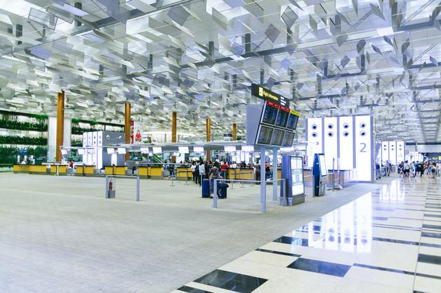 シンガポールの空港(チャンギ空港)の写真