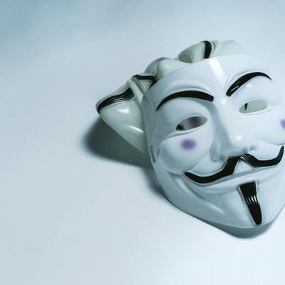 「匿名社会(匿名な仮面)」の写真素材