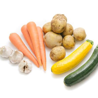 「大刀洗野菜の採れたて根菜など」の写真素材