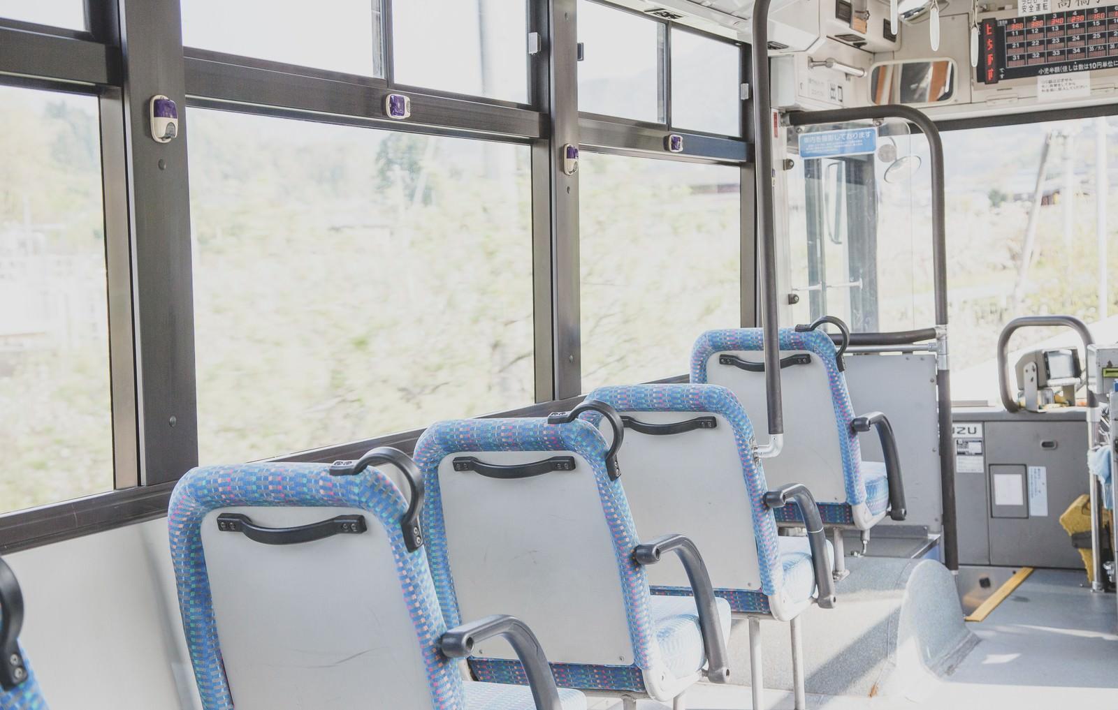 「バスの座席」の写真