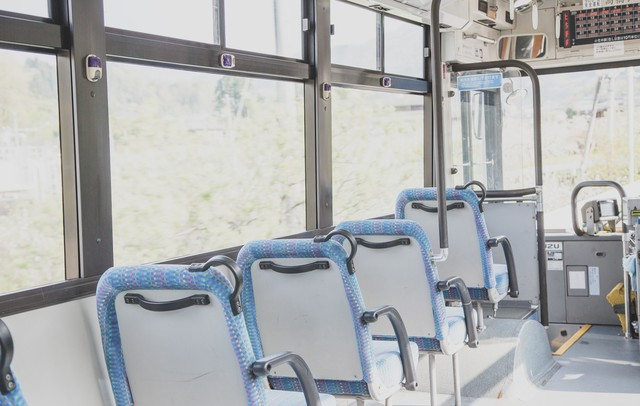 バスの座席の写真