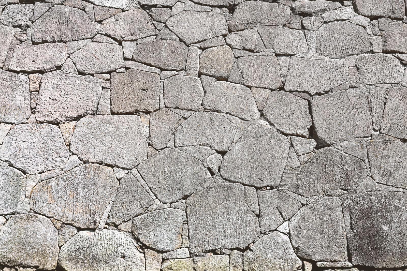 「お城の石垣(テクスチャー)」の写真