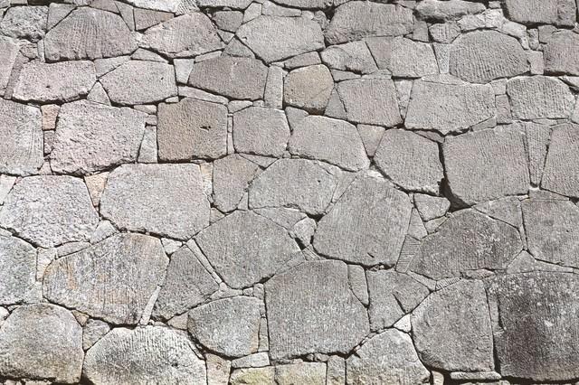 お城の石垣(テクスチャー)の写真