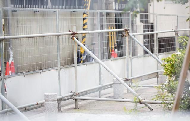 工事現場の柵の写真