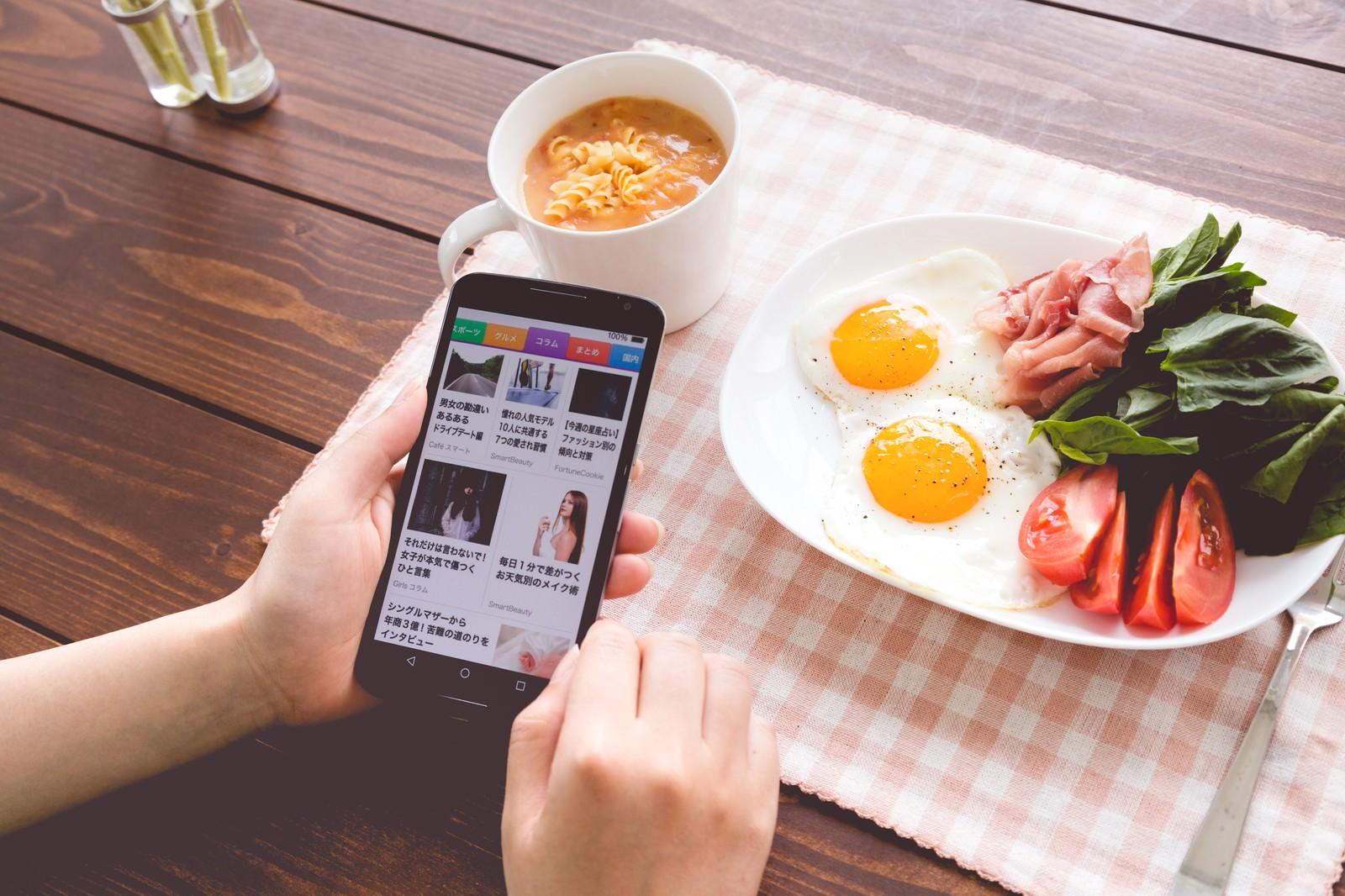 「自分の記事がスマニューに掲載されてバズった(朝食)」の写真