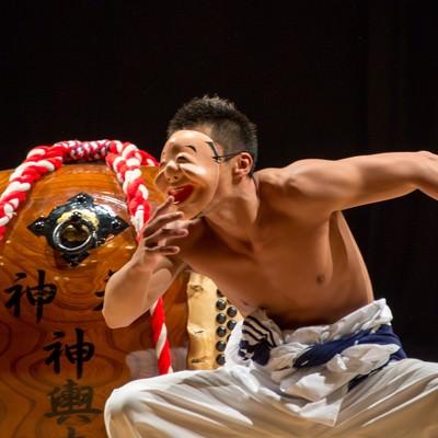 「三宅太鼓の演舞」の写真素材