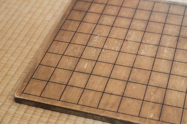 古い将棋盤の写真
