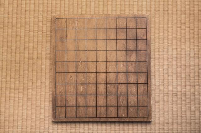 使い古された将棋盤の写真