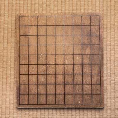 「使い古された将棋盤」の写真素材