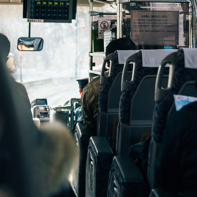 「高速バス」の写真素材