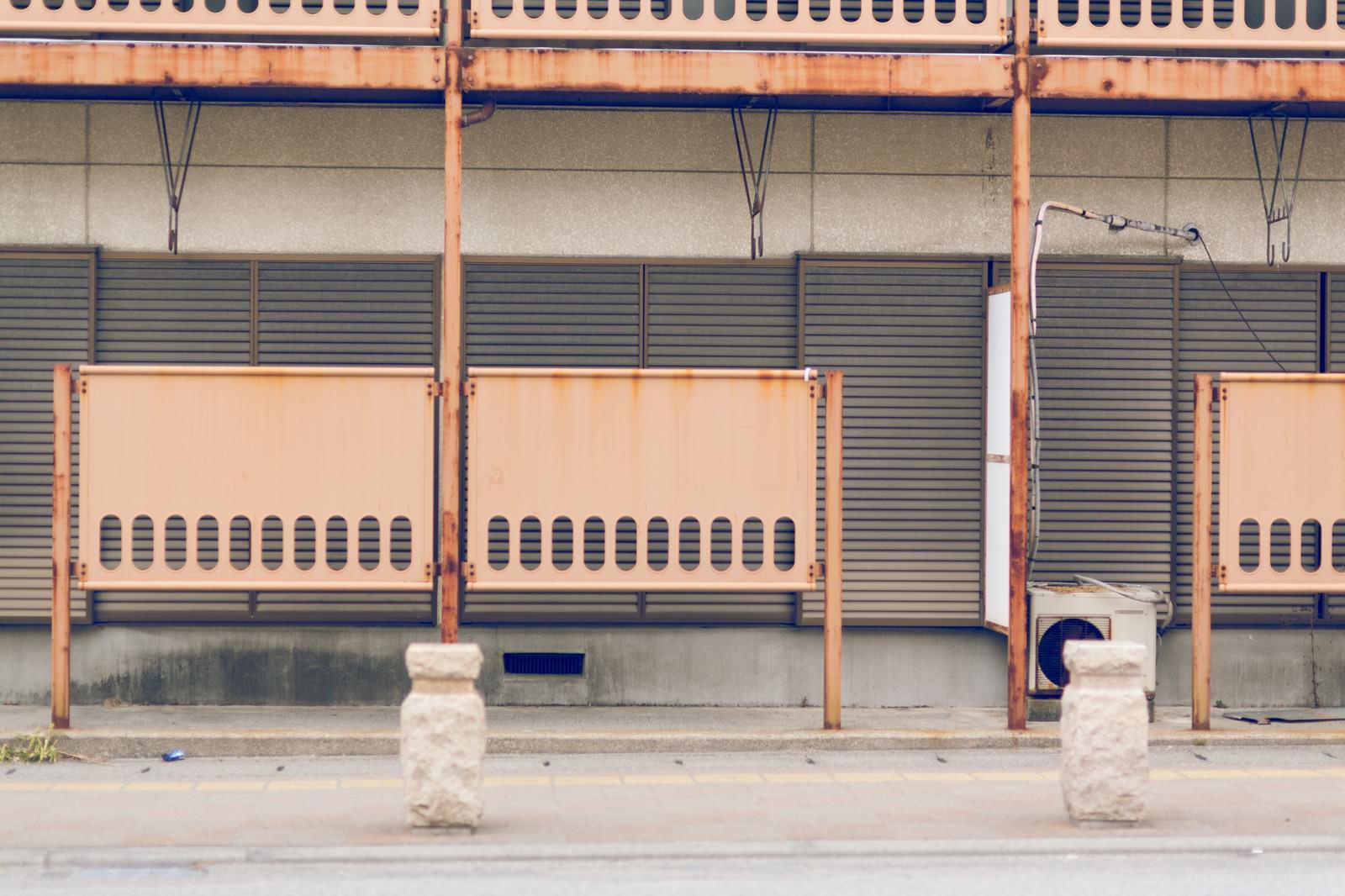 「誰も住んでいないアパート」の写真