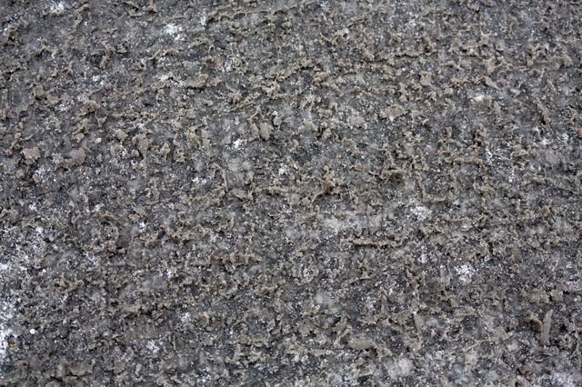 べちゃべちゃシャーベット路面の写真