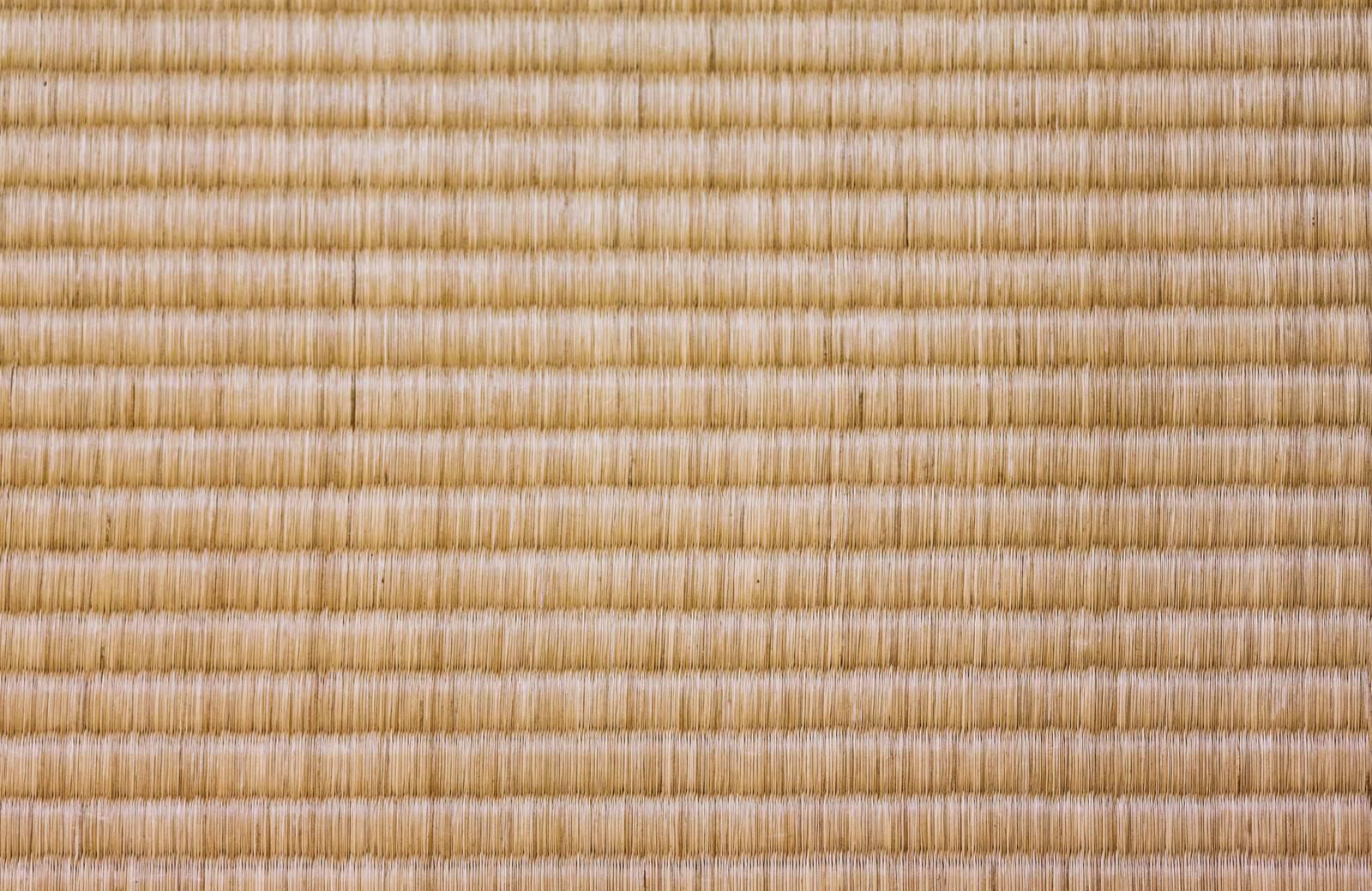 「古い畳のテクスチャー」の写真
