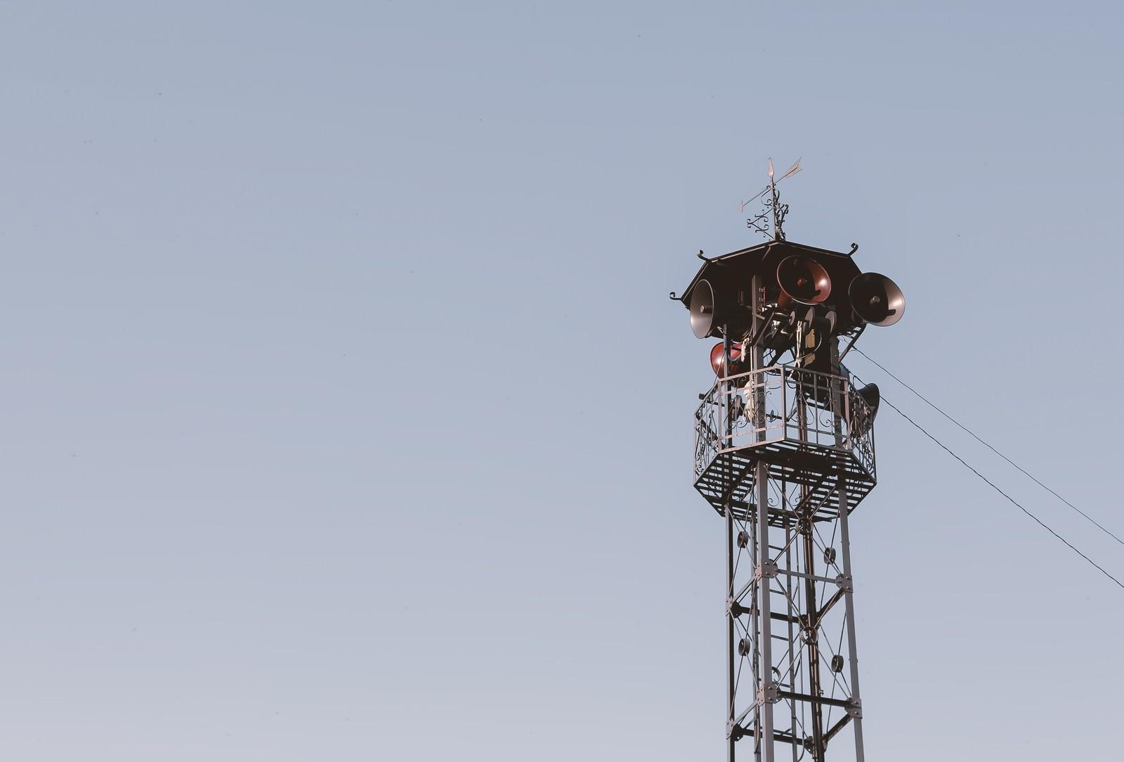 「火の見櫓のサイレン」の写真